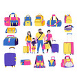 travel bags types set vector image vector image