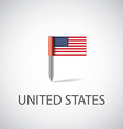 usa flag pin vector image vector image