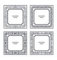vintage square frame set vector image