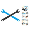 Wrenches Icon With 2017 Year Bonus Pictograms vector image vector image