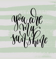 you are my sunshine - hand lettering poster to vector image vector image