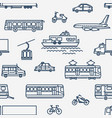 monochrome seamless pattern with transport of vector image