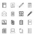 16 notebook icons vector image vector image