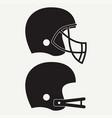 american football helmet vector image vector image