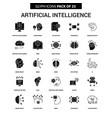 artificial intelligence glyph icon set vector image vector image