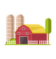 barn and water towers farming agricultural vector image vector image