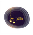 beautiful premium happy diwali greeting card vector image vector image