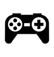 black icon control game cartoon vector image