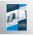 blue brochure layout template design vector image vector image