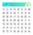 contact line icons set vector image vector image