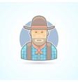 Cowboy an american animal helder icon vector image vector image