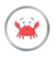 Crab cartoon icon for web and mobile vector image vector image