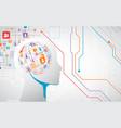 Creative brain concept background artificial