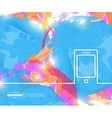 Creative phone Art template vector image