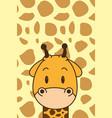 cute little giraffe character vector image