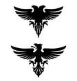 dark evil heraldic eagle vector image vector image