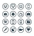 device icons universal set vector image
