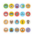 Education Colored Icons 8 vector image vector image