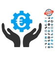 Euro Maintenance Hands Icon With Free Bonus vector image vector image