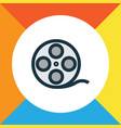 film reel colorful outline symbol premium quality vector image vector image