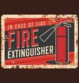 fire safety extinguisher usage banner vector image vector image
