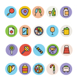 Food Colored Icons 10 vector image vector image