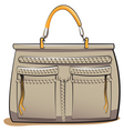 gray ladies handbag vector image vector image