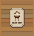grill menu retro background bbq food vintage vector image