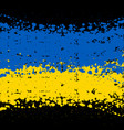 grunge blots ukraine flag background vector image vector image