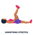 hamstring stretch sport exersice silhouettes of vector image vector image