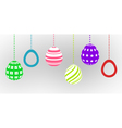 happy easter card with easter egg vector image vector image