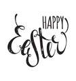 Happy Easter handwriting grunge inscription vector image vector image