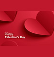 happy valentines day greeting cards with paper vector image