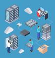information technology server engineer 3d vector image vector image