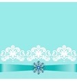 Lace border with jewelry vector image vector image
