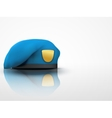 Light Background Military blue Beret NAVY Army vector image vector image