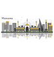 manama bahrain city skyline with gray buildings vector image vector image