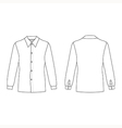 mans buttoned shirt outlined template vector image vector image