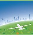 mexico skyline flight destination vector image vector image
