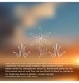 Natural background blur vector image