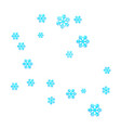 new years christmas chaotic group of snowflakes vector image