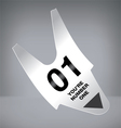 Number One Ticket vector image