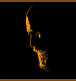 old man with beard portrait silhouette in vector image vector image