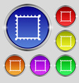 Photo frame template icon sign Round symbol on vector image