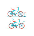 retro bicycle flat set of two vector image vector image
