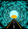 road in the skies abstract concept vector image vector image
