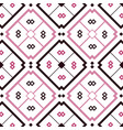 seamless mosaic pink tile pattern over white vector image vector image