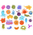 set microbes collection cartoon viruses vector image vector image