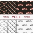 Set of american football patterns Usa sports vector image vector image