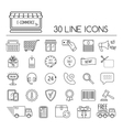 Set of line e-commerce icons Flat design vector image vector image